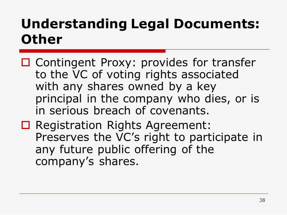 Understanding Legal Documents: Other
