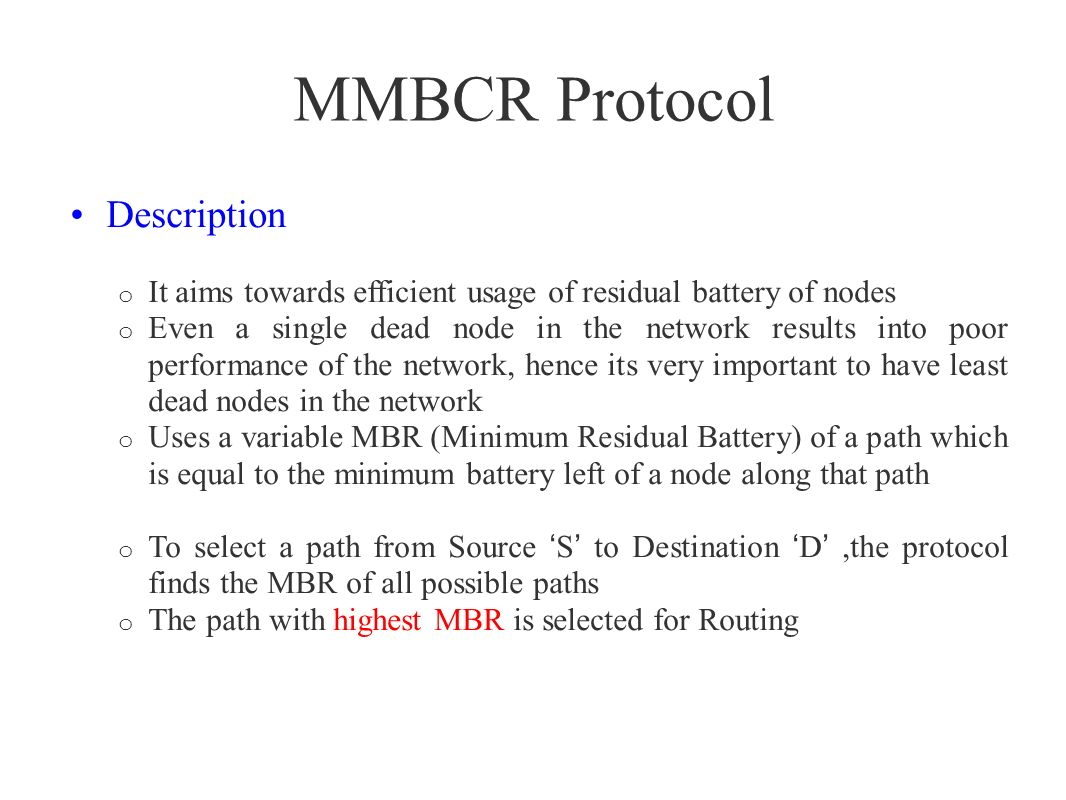 MMBCR Protocol Description