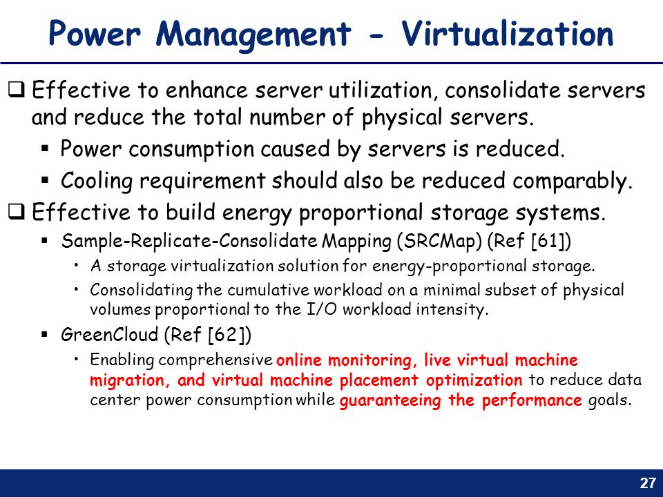 Power Management - Virtualization