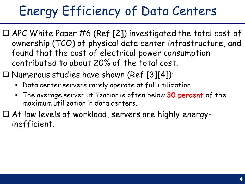 Energy Efficiency of Data Centers