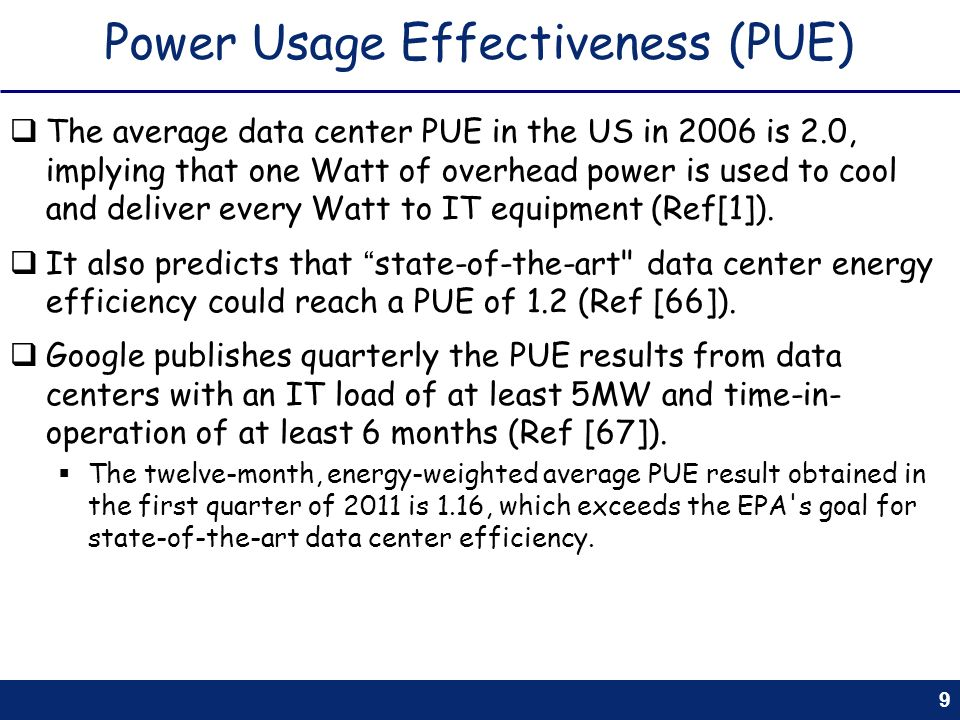 Power Usage Effectiveness (PUE)