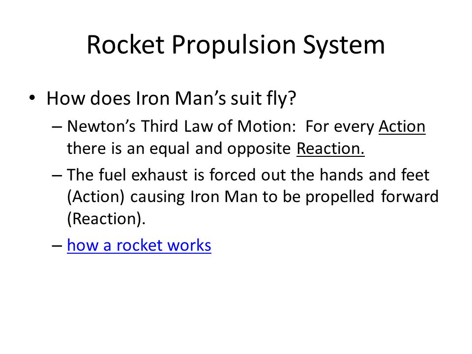 how to make a propulsion system