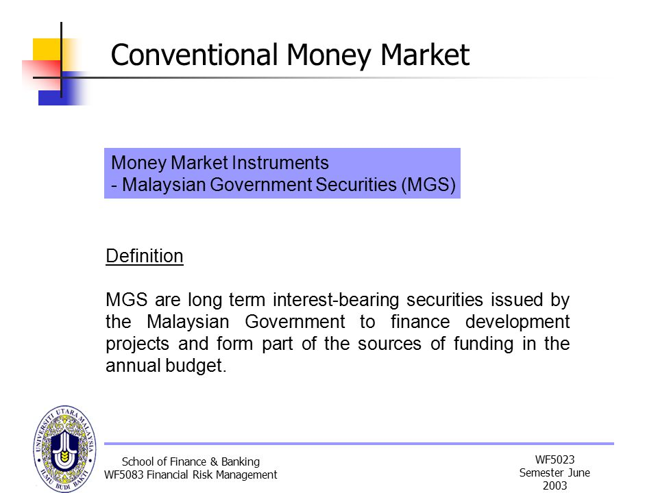 malaysia money market instrument A mutual fund manager invests your funds in securities, including stocks and bonds, money market instruments or some combination of these, based upon the fund's investment objectives by investing in a mutual fund you can diversify, thereby, sharply reducing your risk.