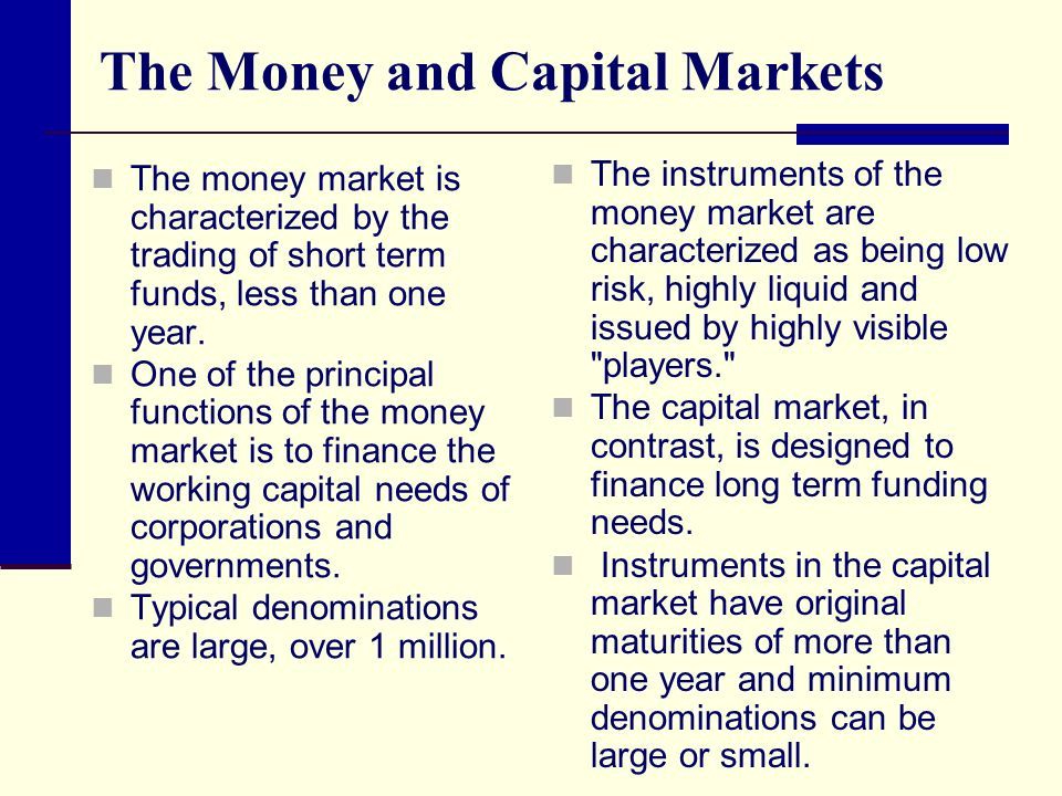 functions of capital market 2016-03-29  the role of banks, equity markets and institutional  equity markets and institutional investors in providing long-term finance for growth and  securities market activities.