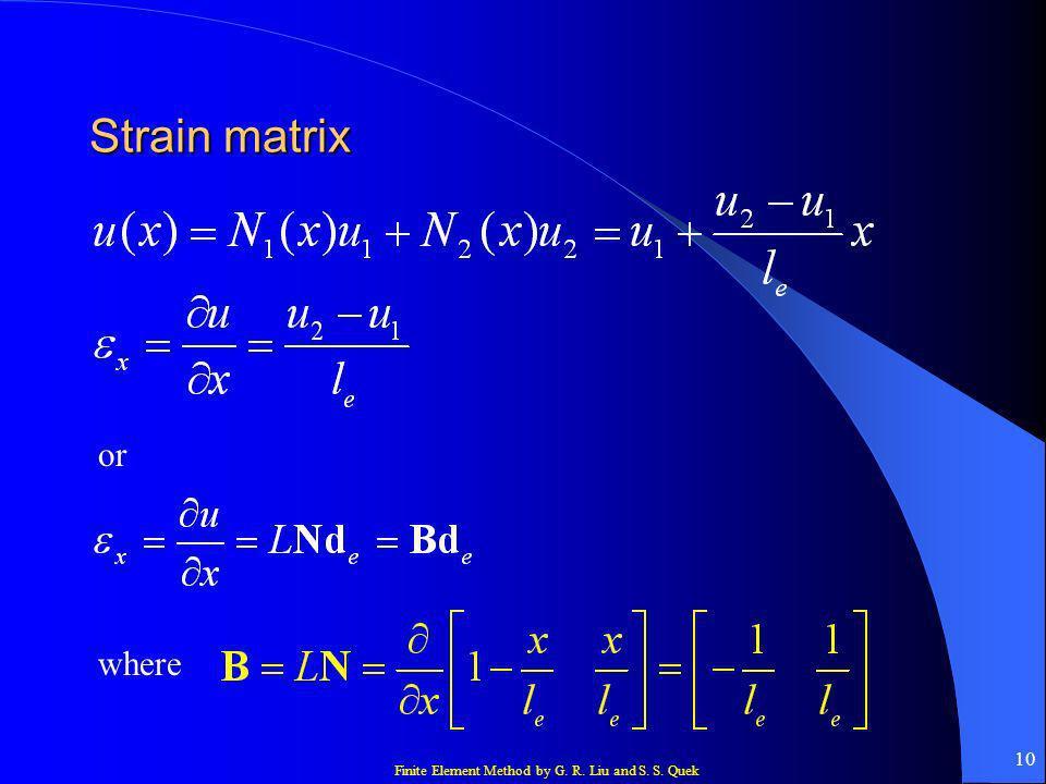 Strain matrix or where
