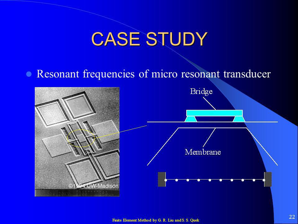 CASE STUDY Resonant frequencies of micro resonant transducer