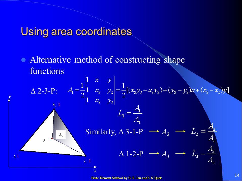 Using area coordinates