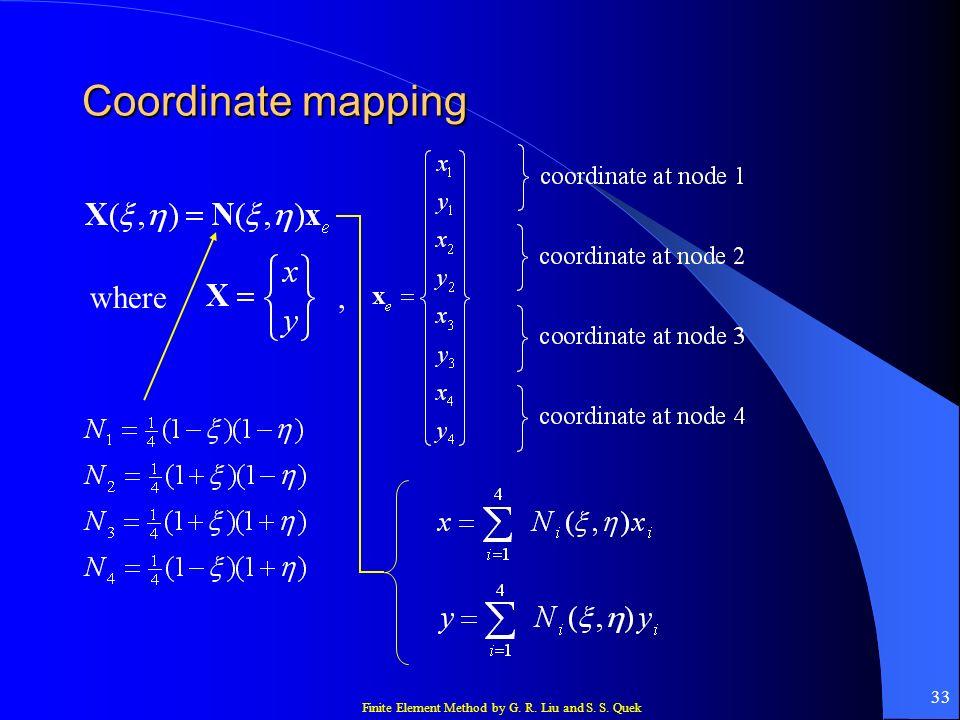 Coordinate mapping where ,