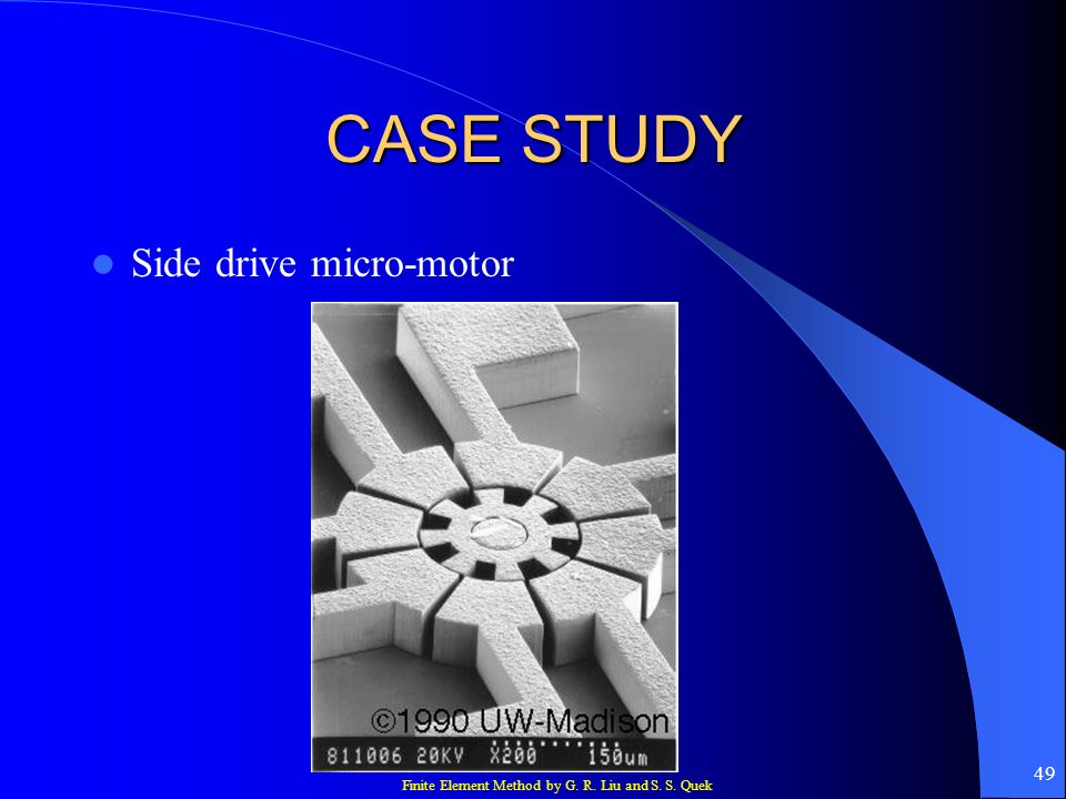 CASE STUDY Side drive micro-motor