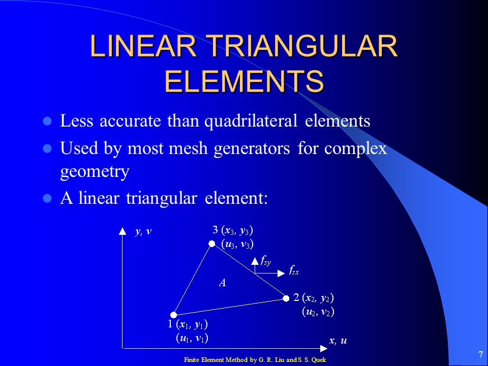 LINEAR TRIANGULAR ELEMENTS