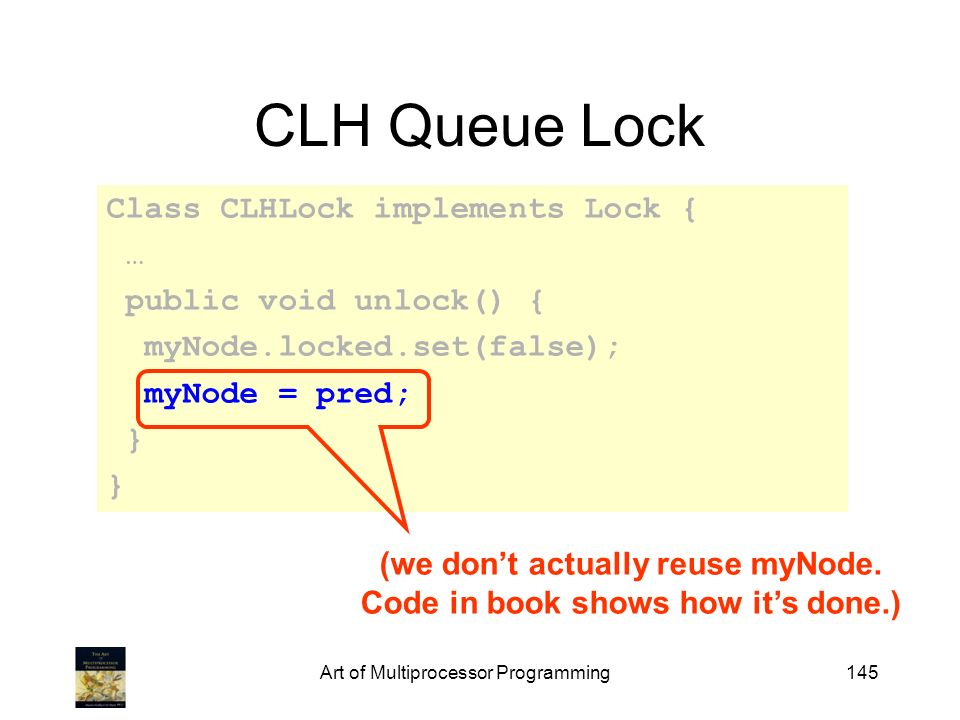 (we don't actually reuse myNode. Code in book shows how it's done.)