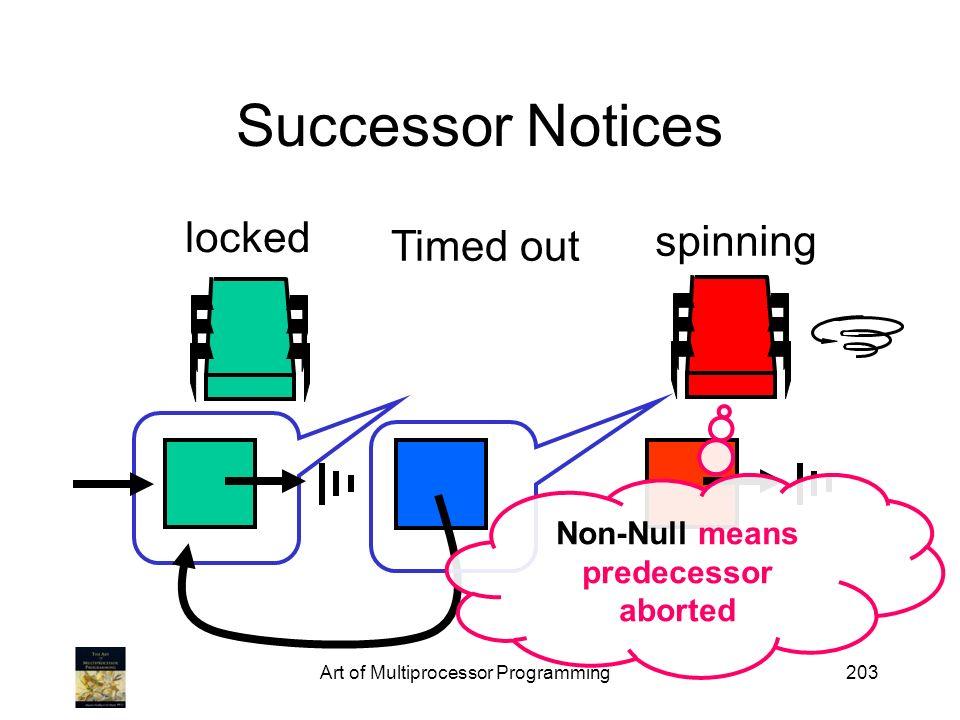 Non-Null means predecessor aborted