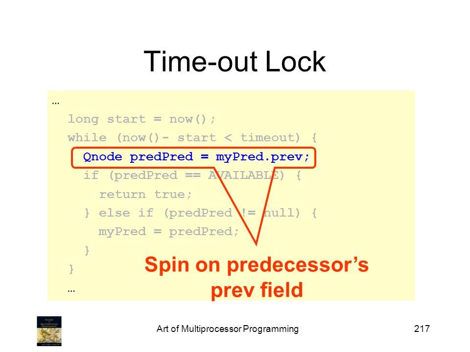 Spin on predecessor's prev field