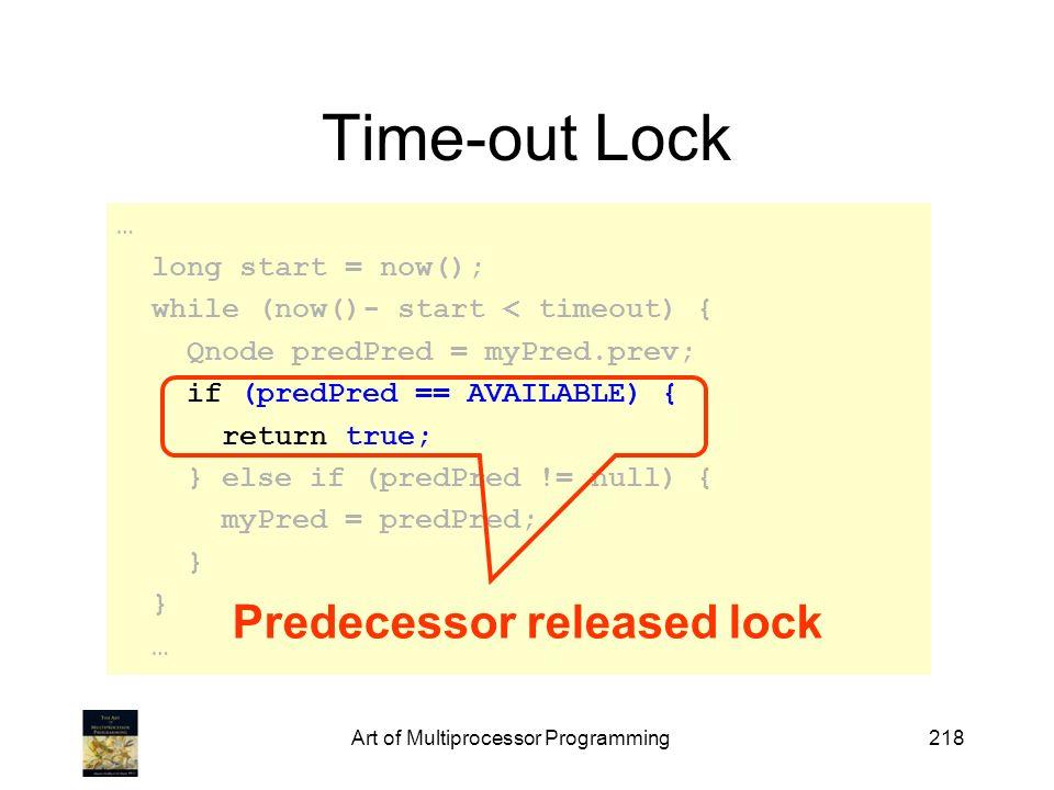 Predecessor released lock