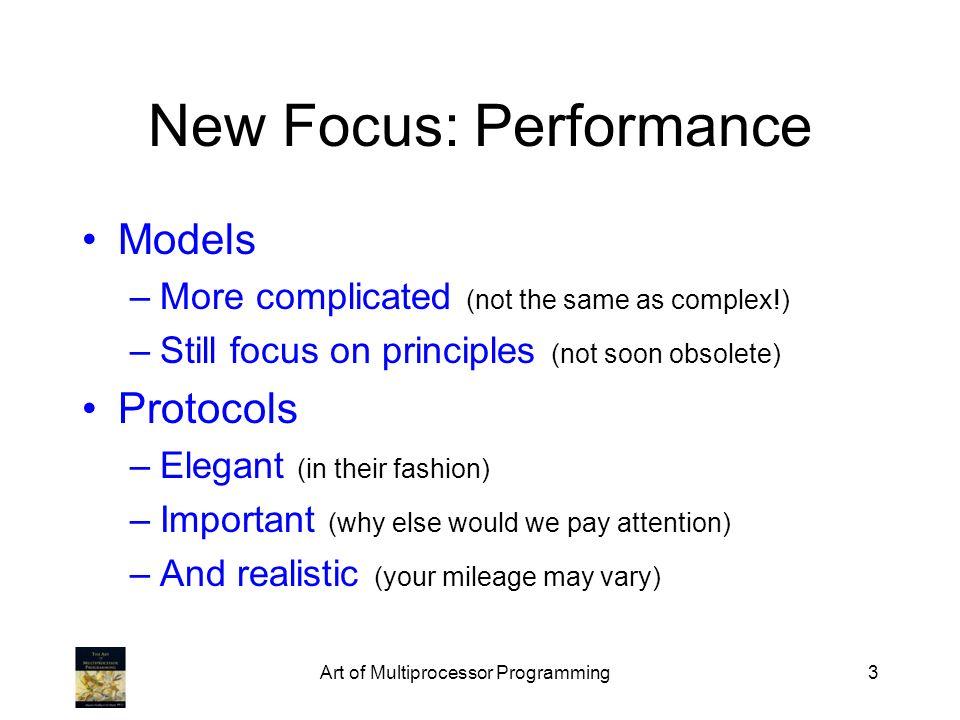 New Focus: Performance