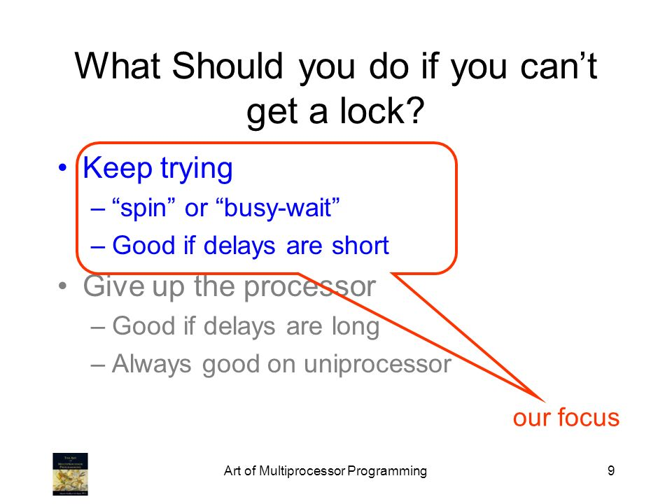 What Should you do if you can't get a lock