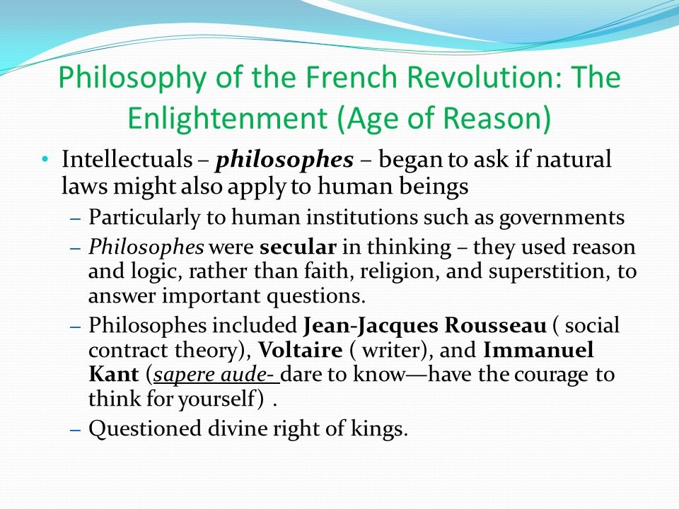 the age of reason and revolution Craig white's literature courses terms / themes the enlightenment or age of reason (aka neo-classical era) incl the scientific revolution.