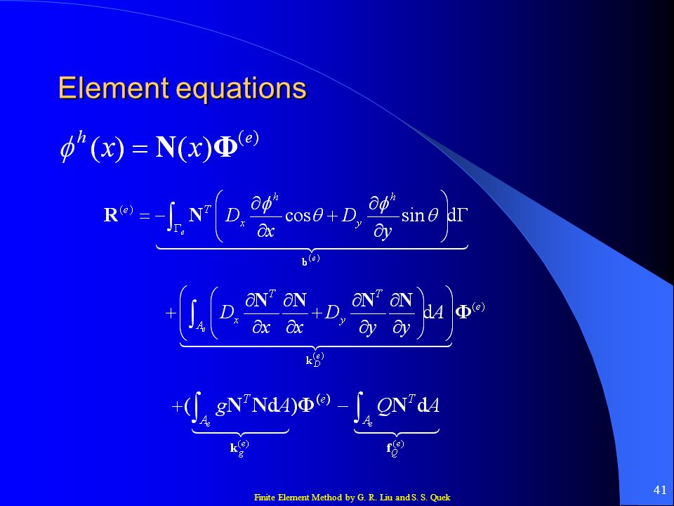 Element equations
