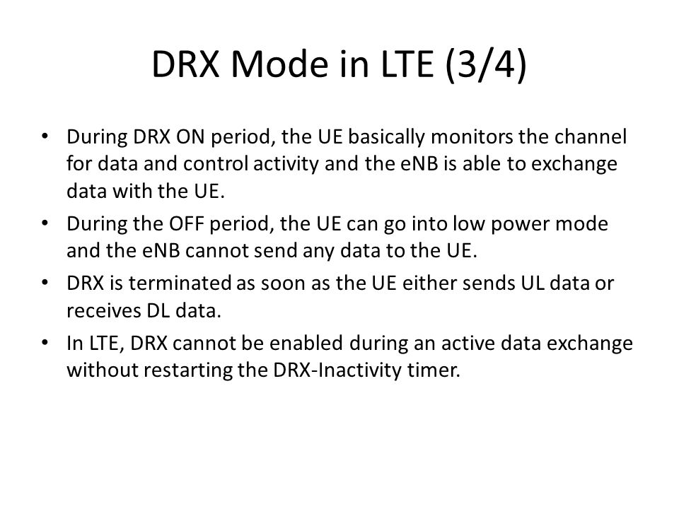 DRX Mode in LTE (3/4)