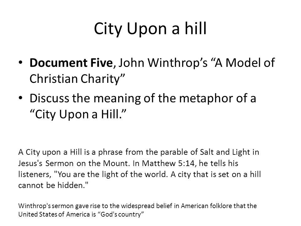 john winthrop a model of christian charity summary