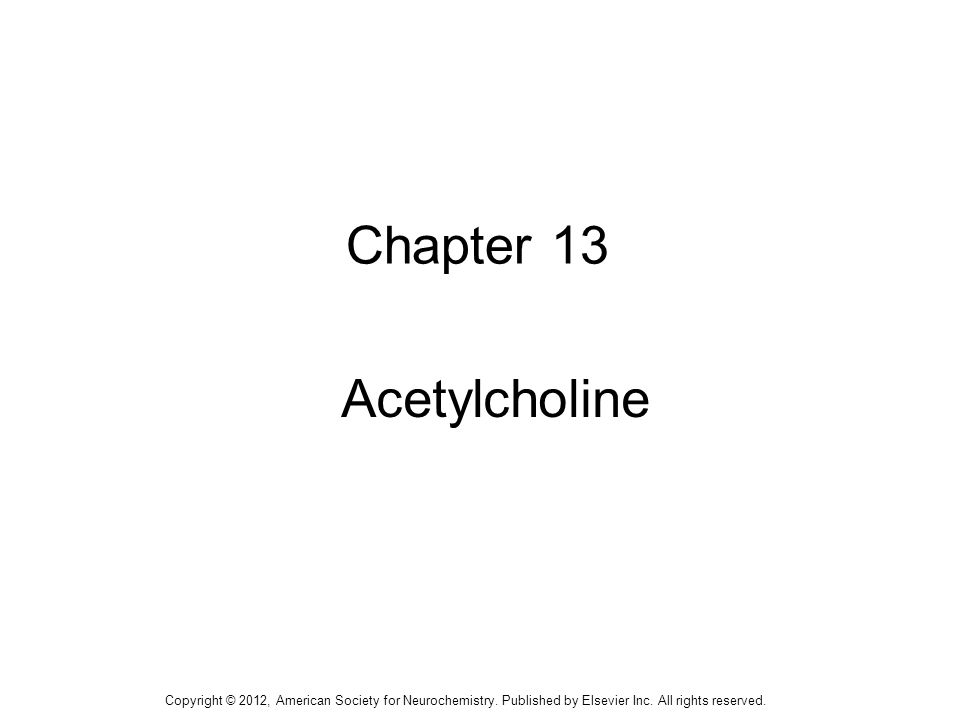 Chapter 13 Acetylcholine