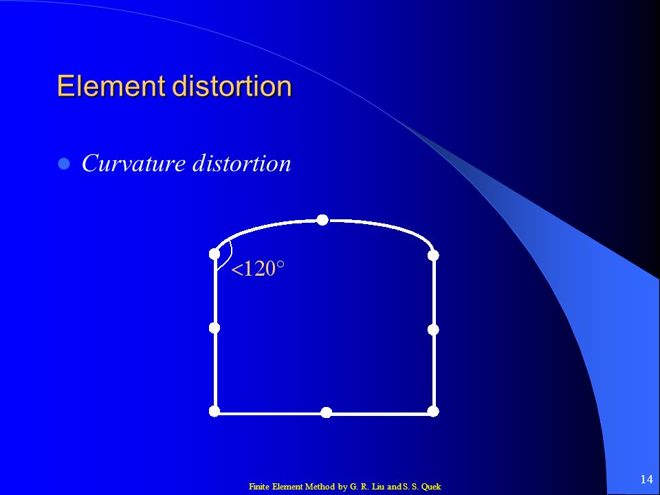 Element distortion Curvature distortion