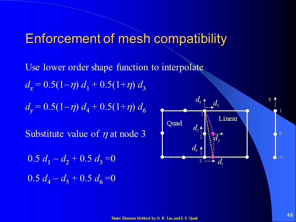 Enforcement of mesh compatibility