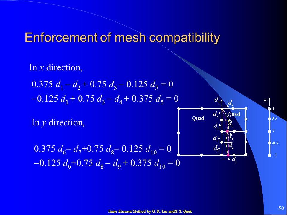 Enforcement of mesh compatibility