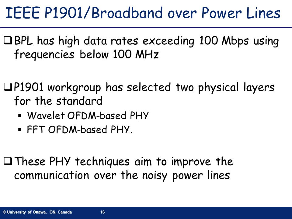 IEEE P1901/Broadband over Power Lines