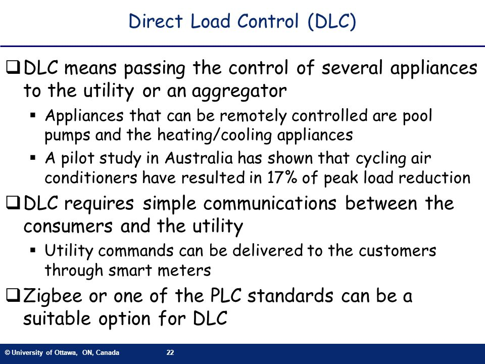 Direct Load Control (DLC)