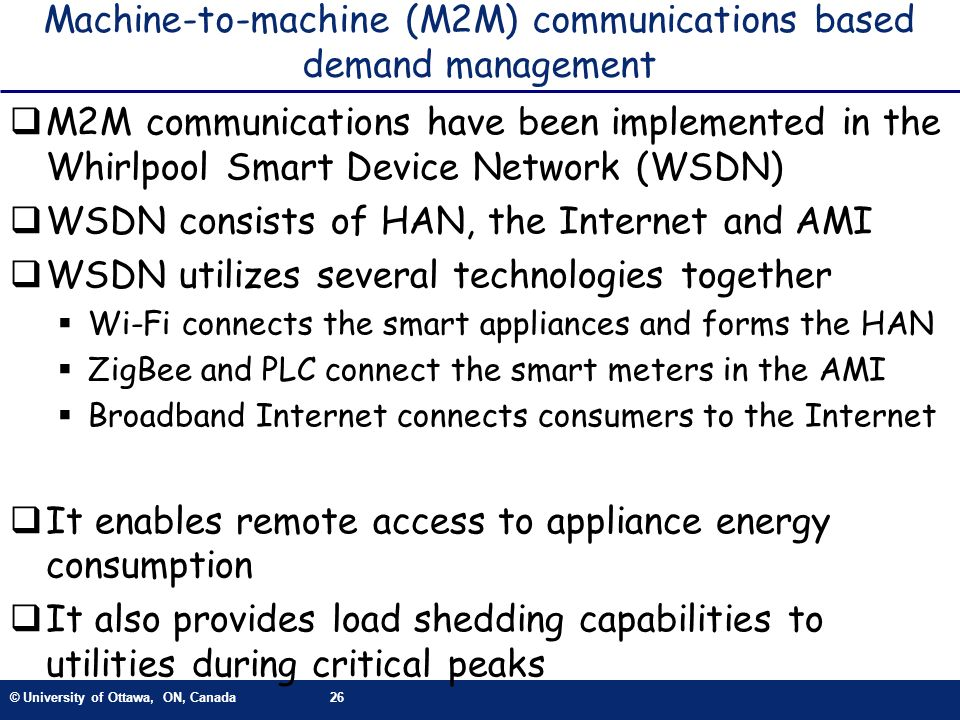 Machine-to-machine (M2M) communications based demand management