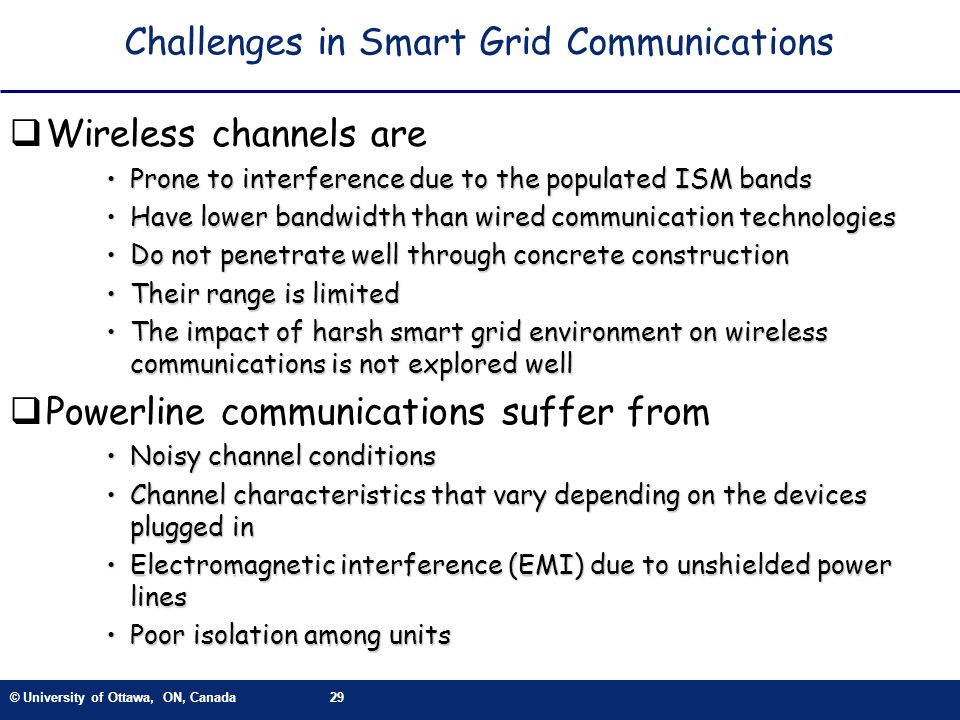 Challenges in Smart Grid Communications