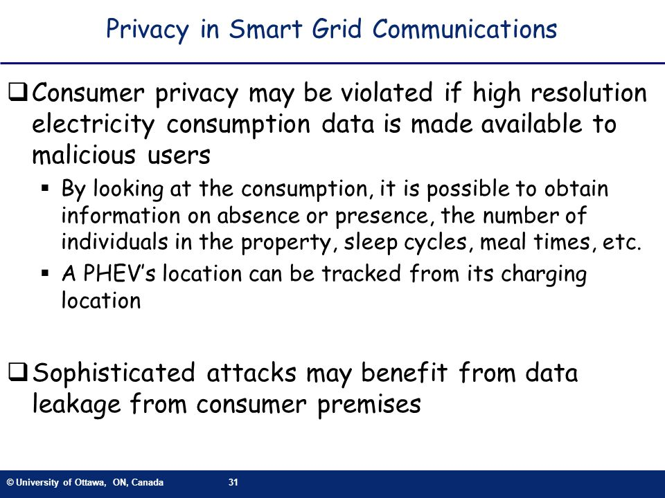 Privacy in Smart Grid Communications