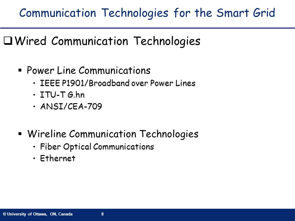 Communication Technologies for the Smart Grid