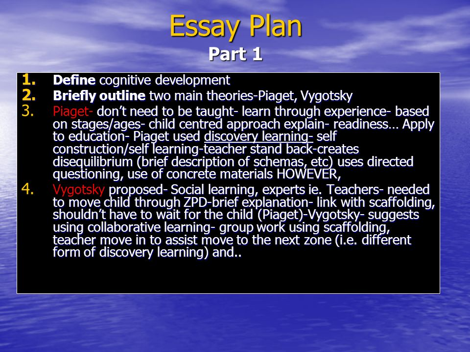 cognitive development applications to education ppt video online  29 essay plan part 1 define cognitive development