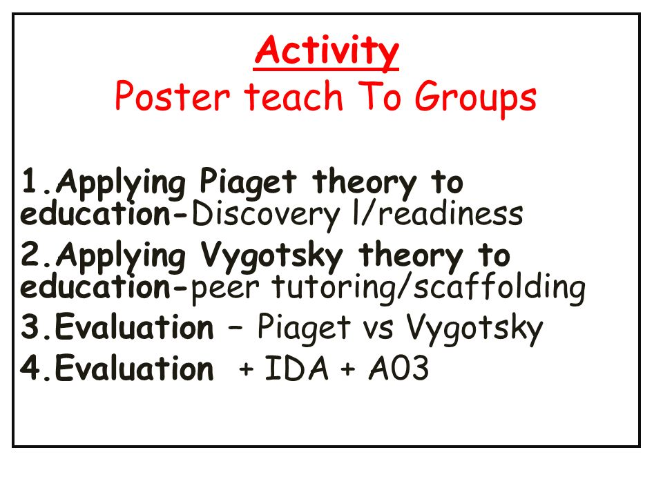Cognitive Development Applications to Education - ppt download