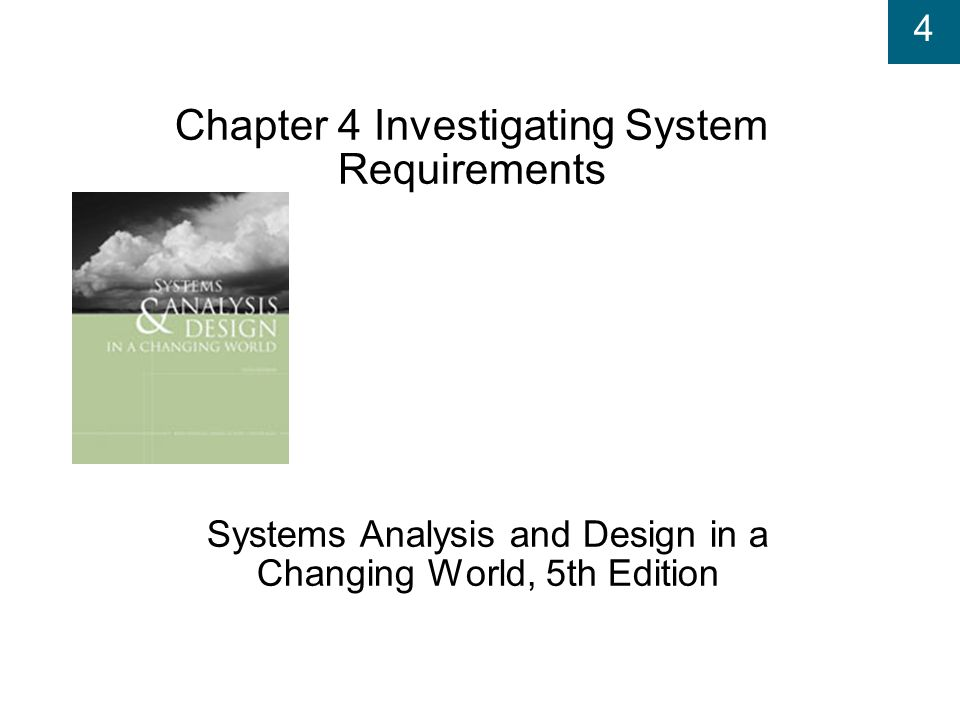 Chapter 4 Investigating System Requirements Ppt Video Online Download
