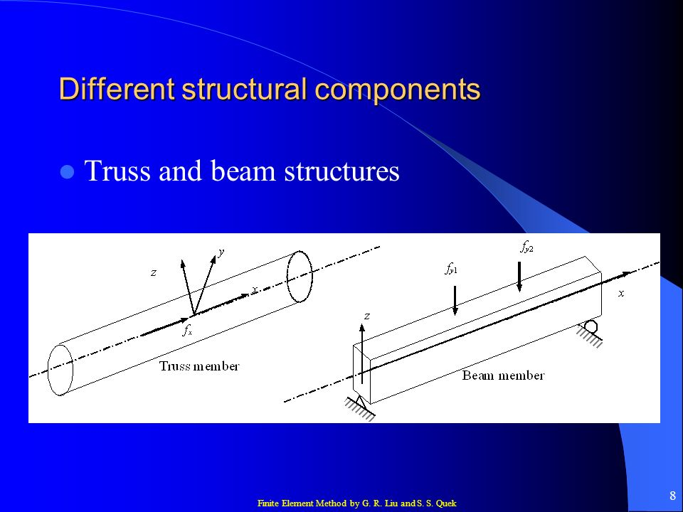 Different structural components