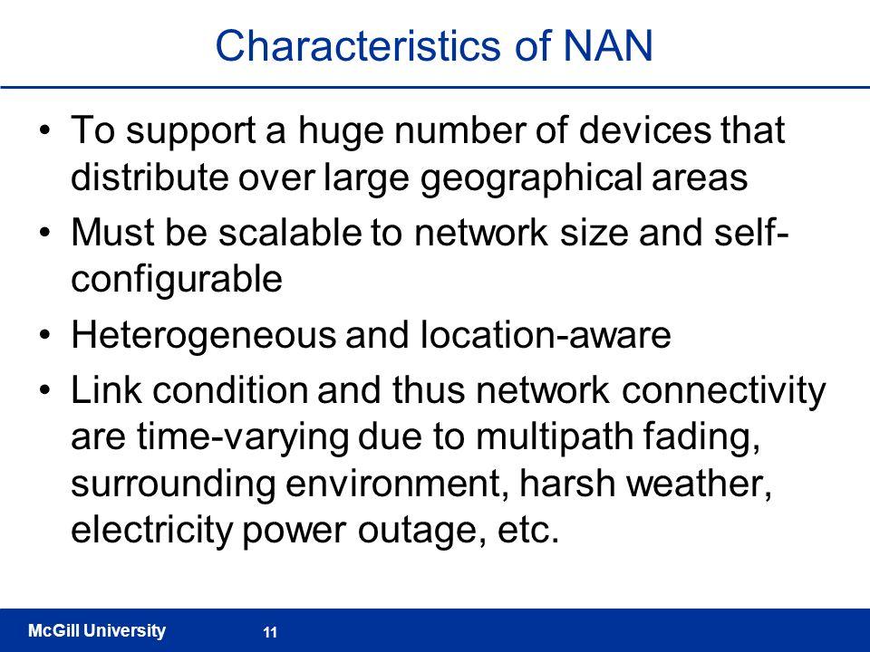 Characteristics of NAN