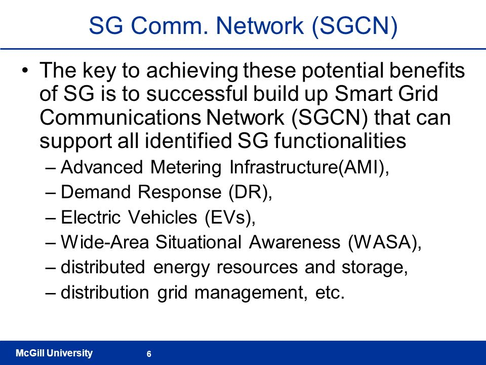 SG Comm. Network (SGCN)