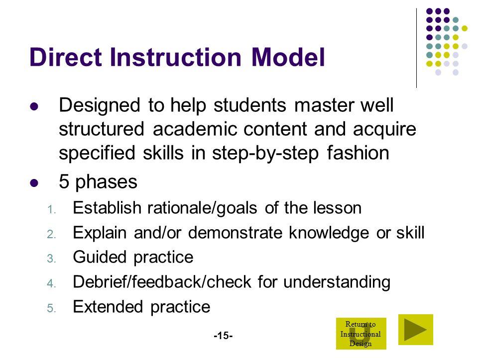 Direct Instruction Worksheets : Design your instructional blueprint ppt video online
