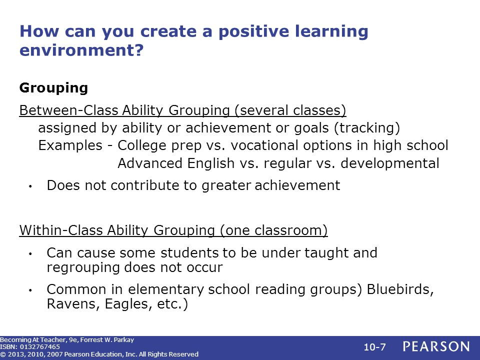 positive learning enviroment That the learning environment is one that helps students thrive  does not  promote a positive learning environment there are many things that.