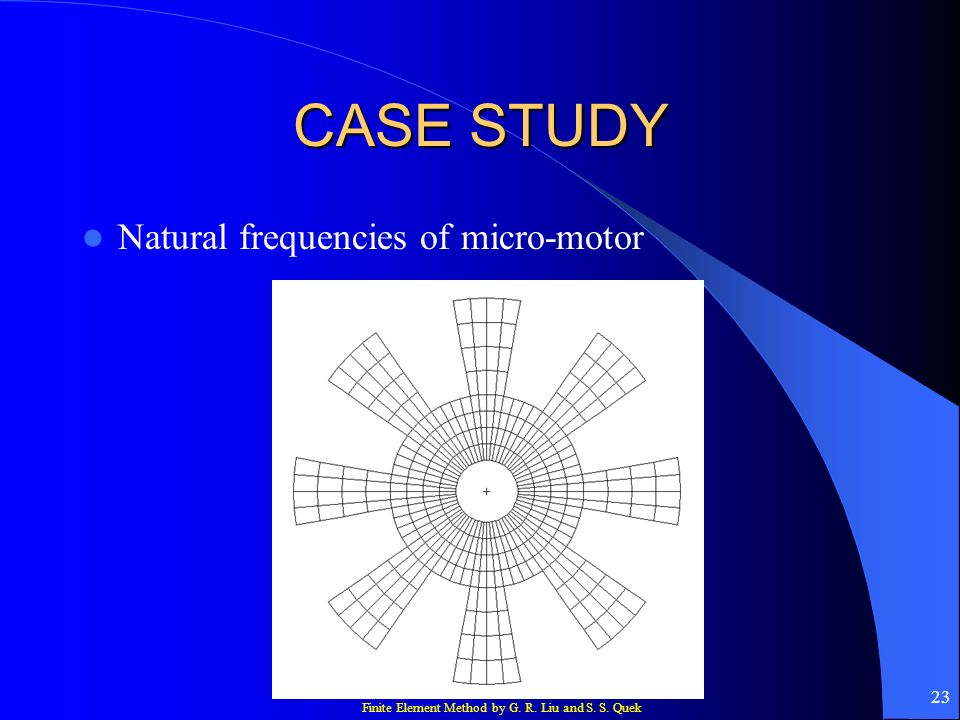 CASE STUDY Natural frequencies of micro-motor