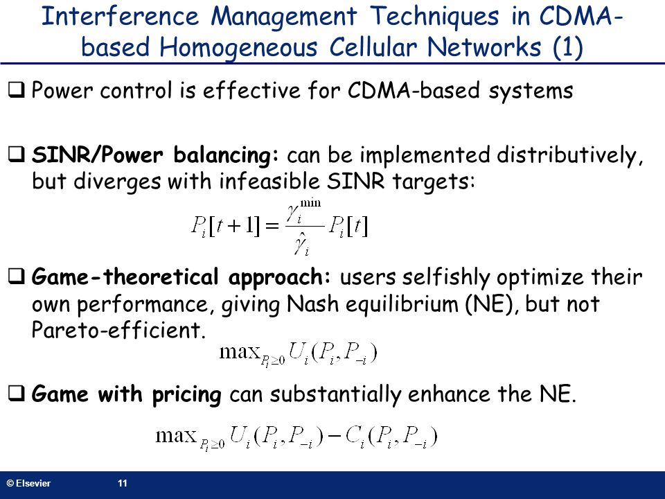 Interference Management Techniques in CDMA-based Homogeneous Cellular Networks (1)
