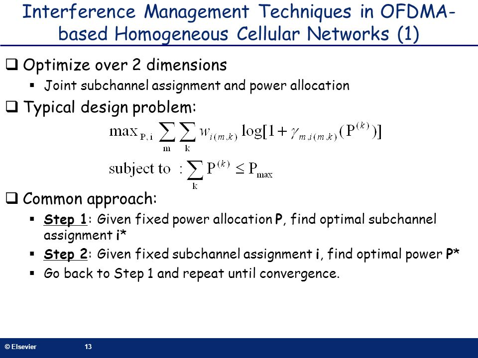 Interference Management Techniques in OFDMA-based Homogeneous Cellular Networks (1)