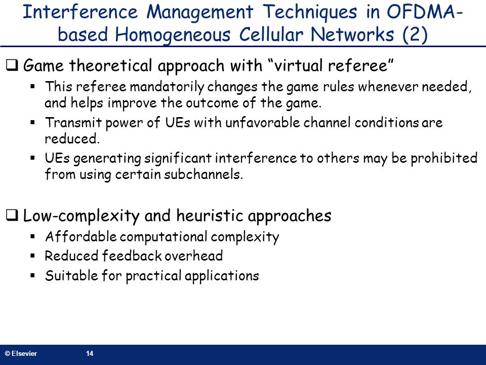 Interference Management Techniques in OFDMA-based Homogeneous Cellular Networks (2)