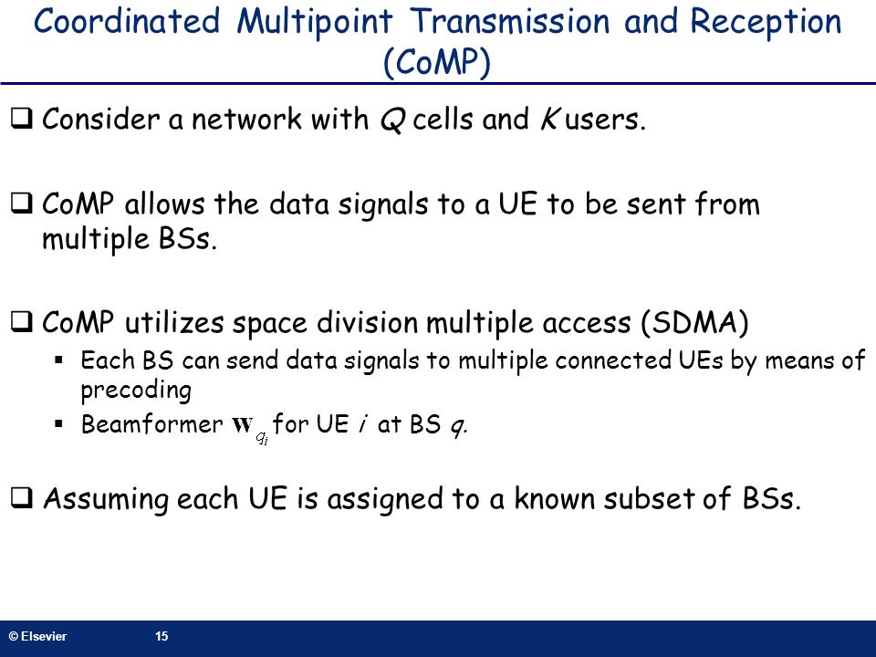 Coordinated Multipoint Transmission and Reception (CoMP)