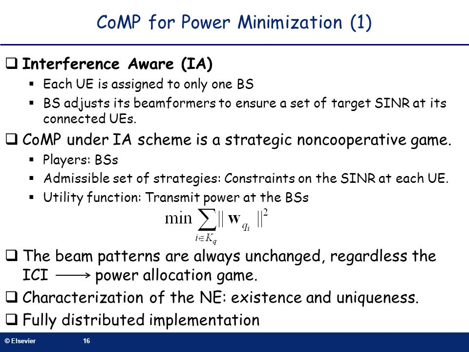 CoMP for Power Minimization (1)