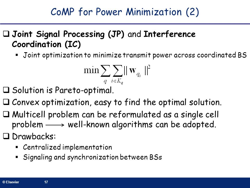 CoMP for Power Minimization (2)