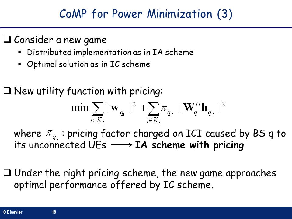 CoMP for Power Minimization (3)
